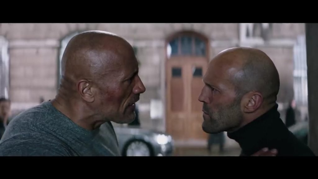 Hobbs and Shaw Arguing