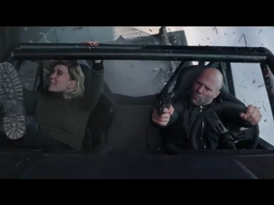 Shaw and Hattie in Jeep