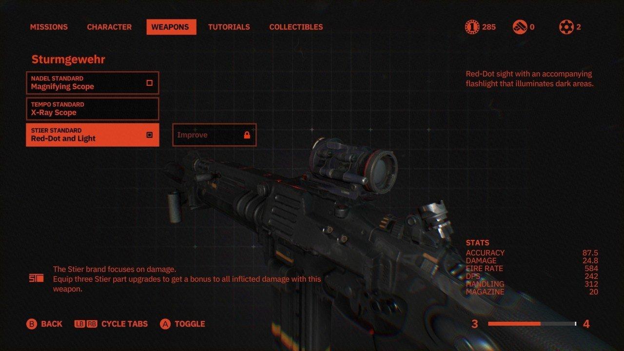 Wolfenstein Youngblood Weapon Upgrades