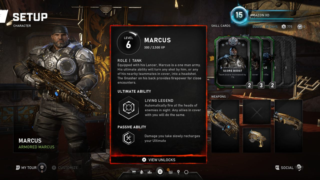 Gears 5 Marcus Horde Loadout