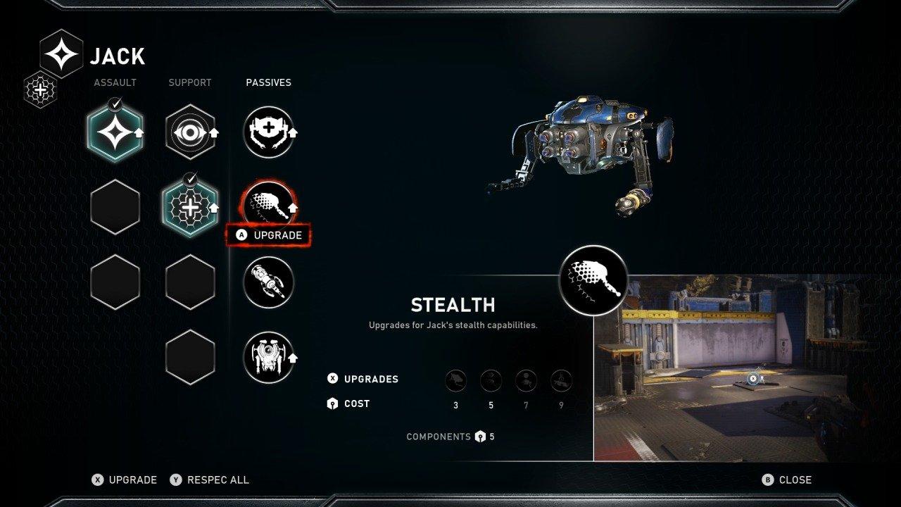 Jack Campaign Upgrades Gears