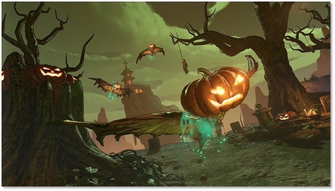 Winged Rakk-O'-Lanterns in Borderlands 3 Bloody Harvest Event