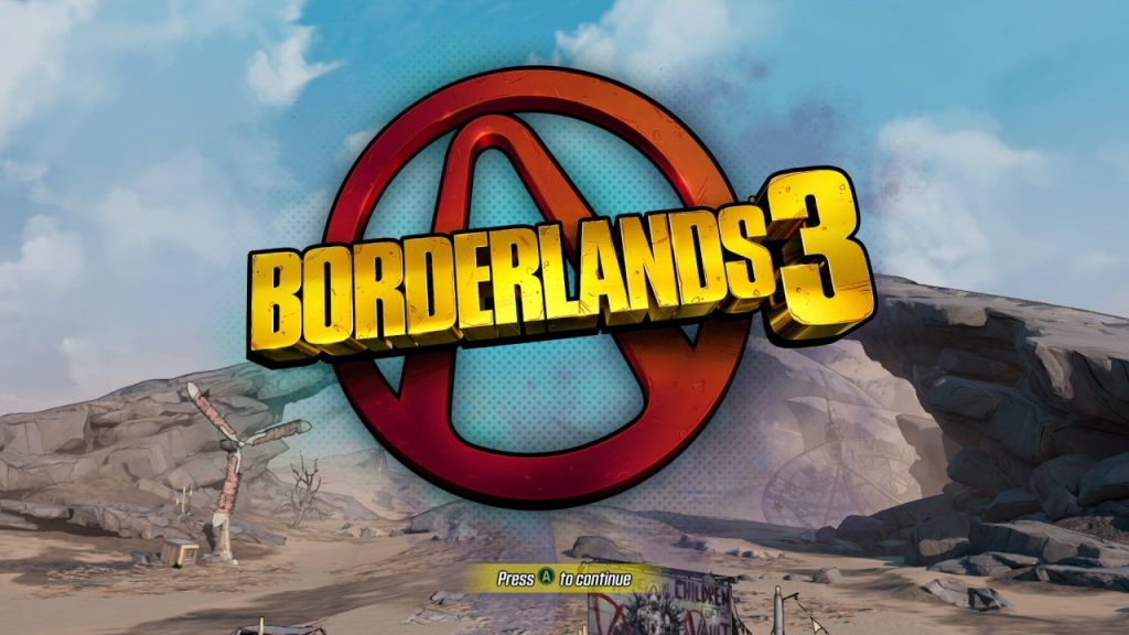 Borderlands 3 Title Screen
