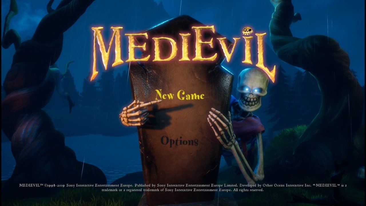 MediEvil PS4 Title Screen