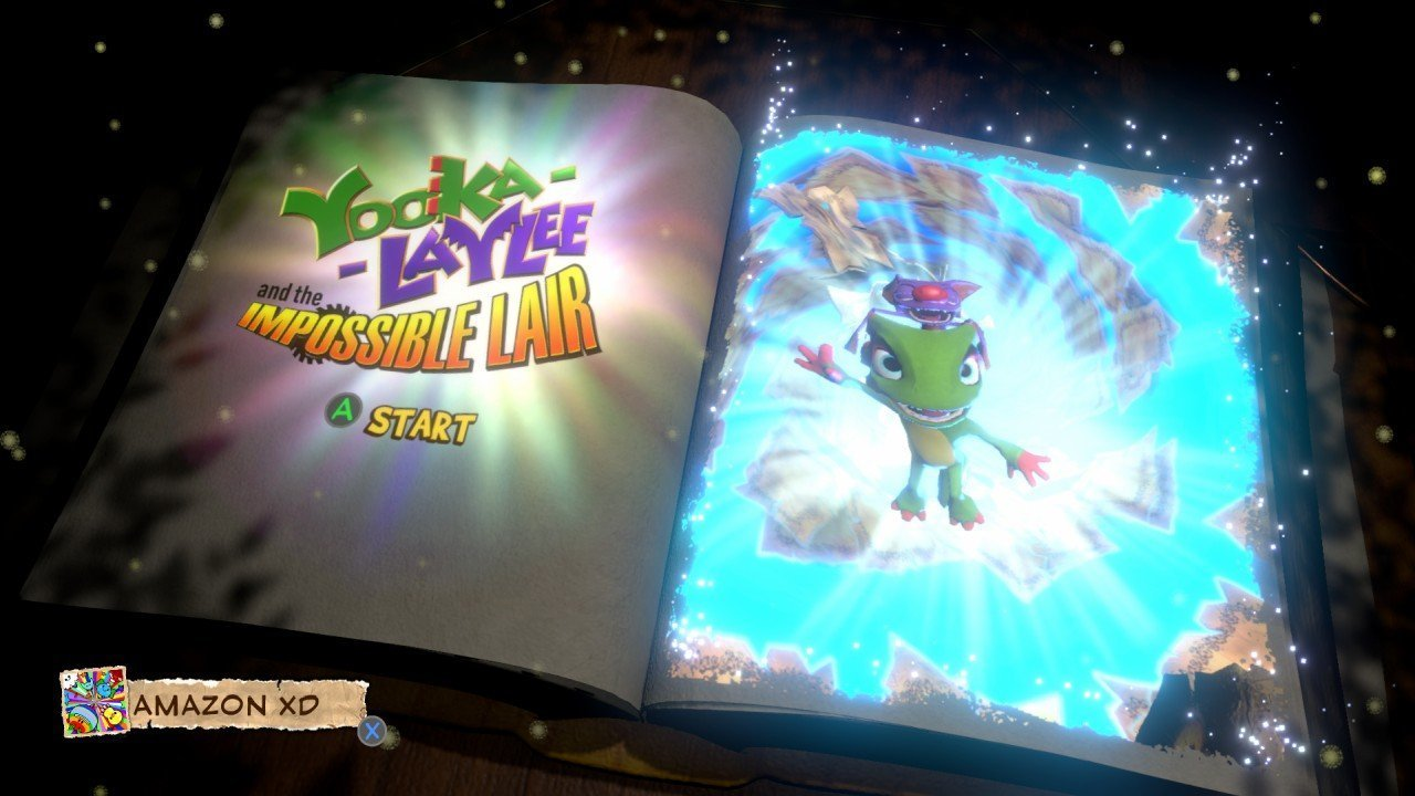 Yooka-Laylee and the Impossible Lair TItle Screen