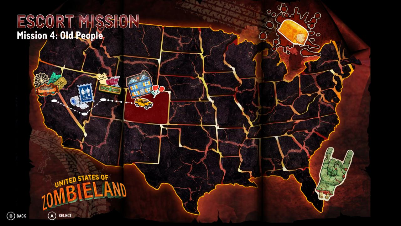 Zombieland Double Tap Map