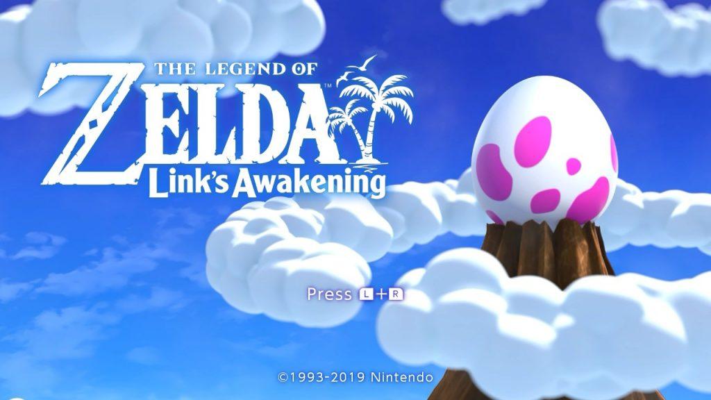 Links Awakening Title Screen