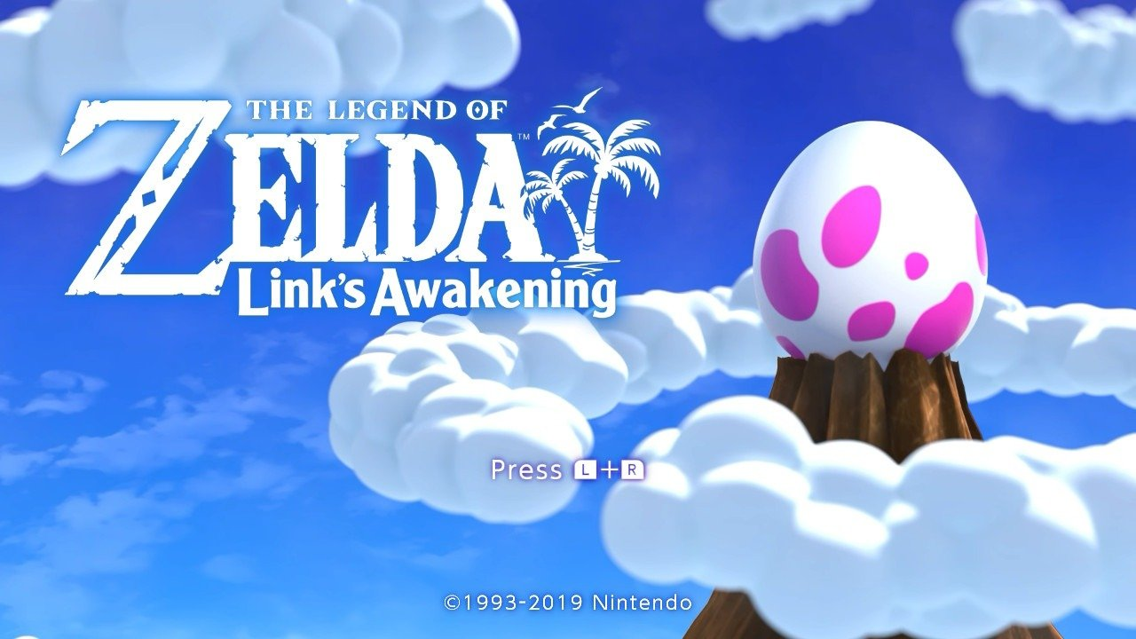 Links Awakening Title Screen