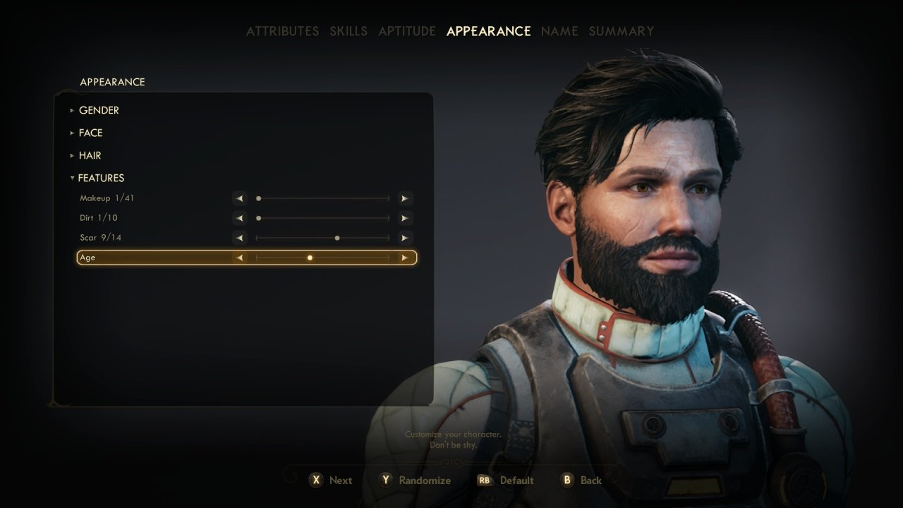 Outer Worlds Custom Character