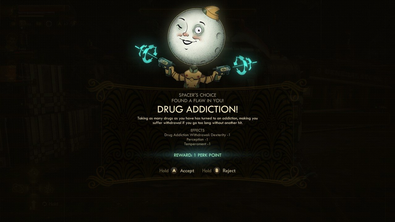 Outer Worlds Drug Addiction Flaw