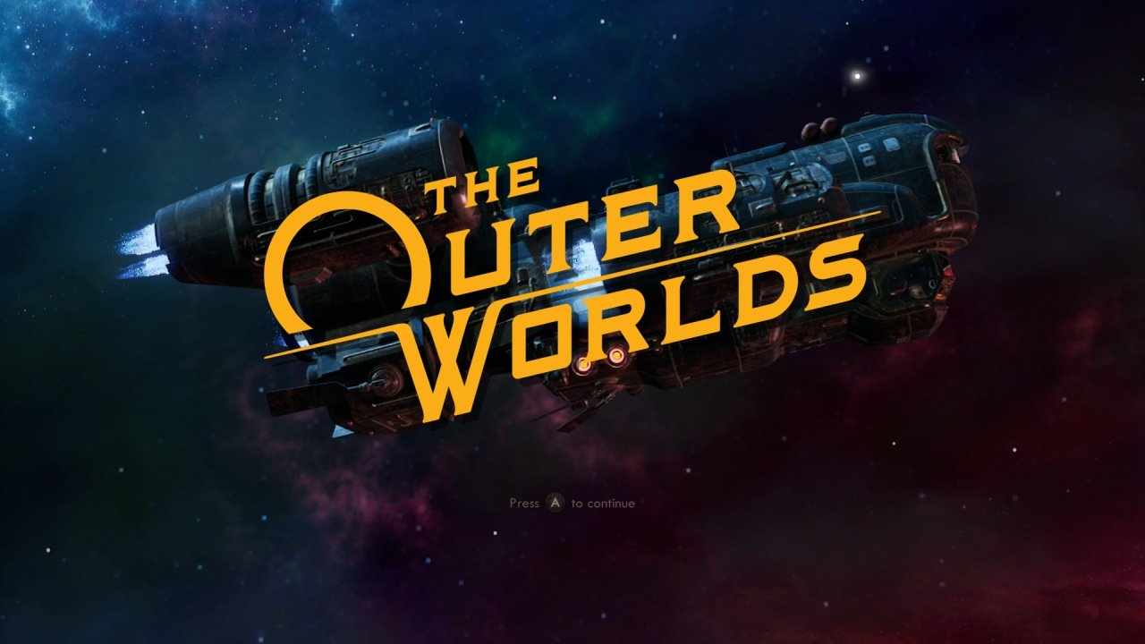 The Outer Worlds Title Screen