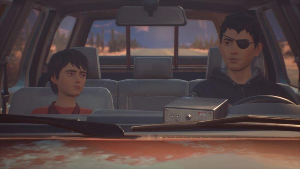 Sean and Daniel Diaz sitting in a truck