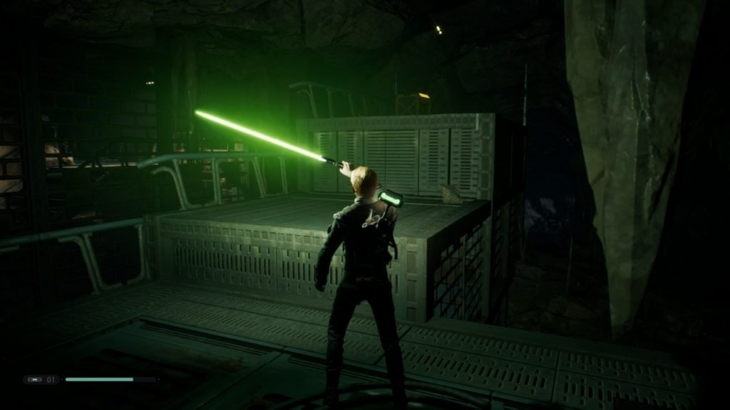 Using the Lightsaber as a Flashlight