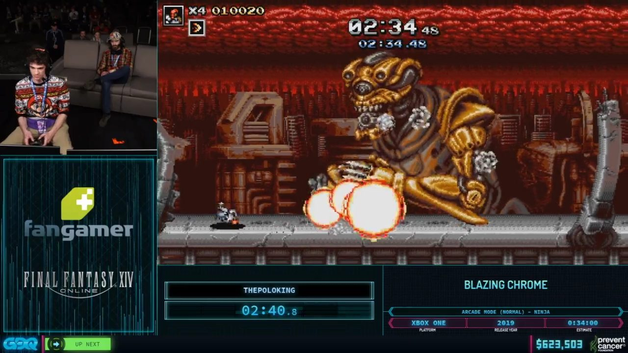 Blazing Chrome at AGDQ 2020