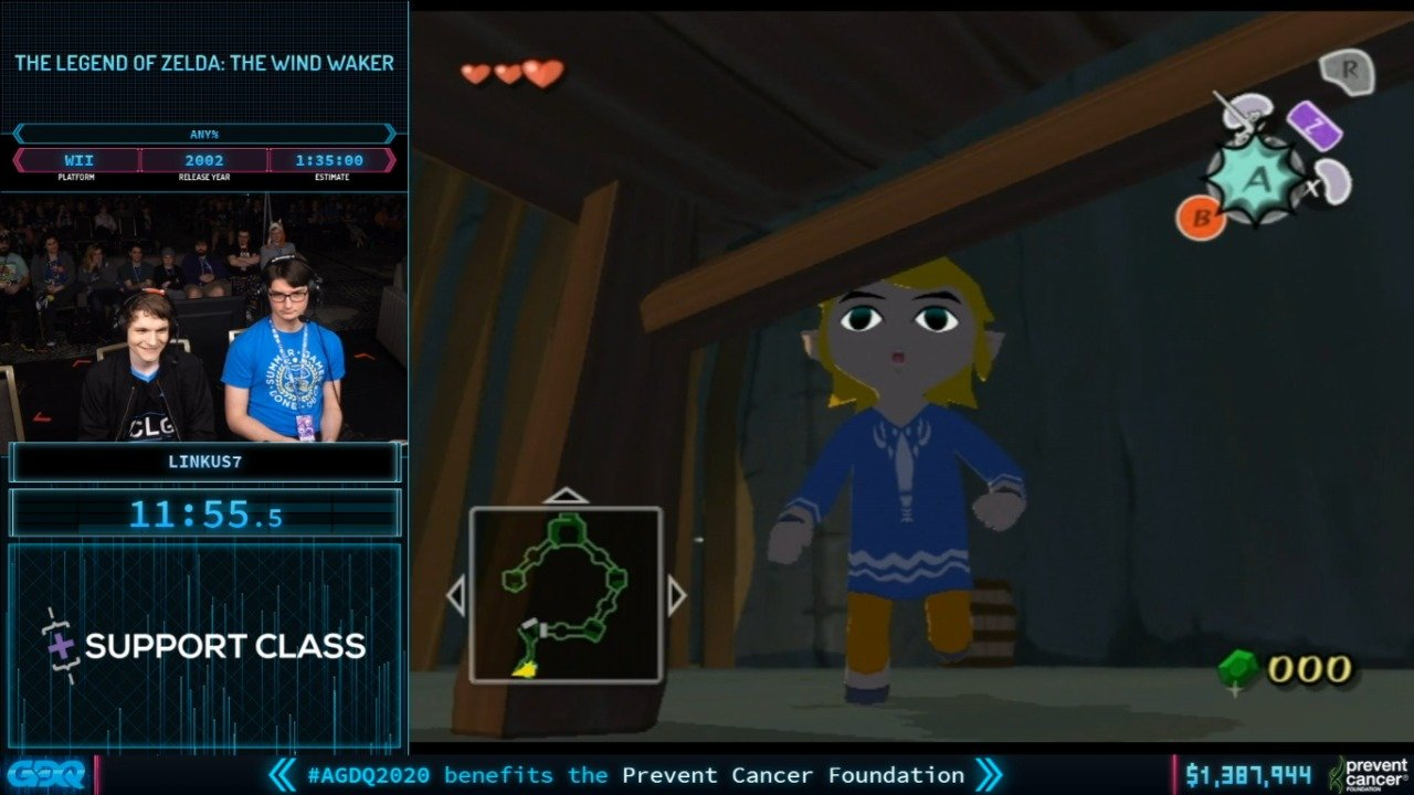 Wind Waker at AGDQ 2020