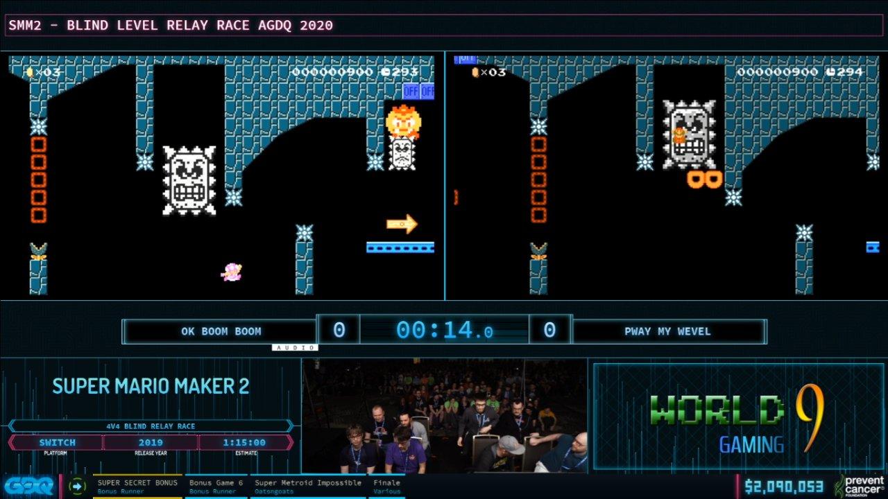 Mario Maker 2 at AGDQ 2020