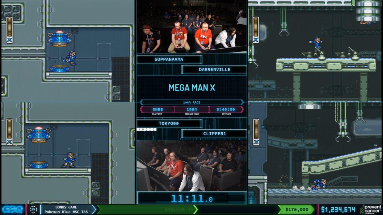 Mega Man X at AGDQ 2020