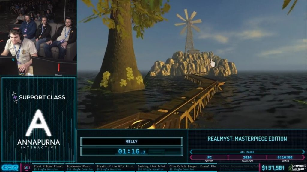 Myst at AGDQ 2020
