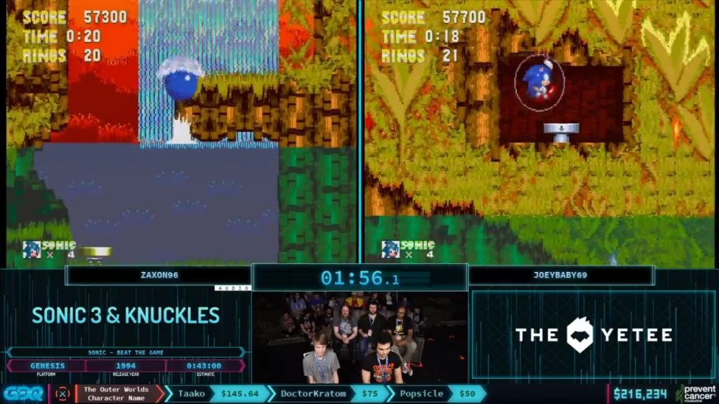 Sonic 3 and Knuckles at AGDQ 2020