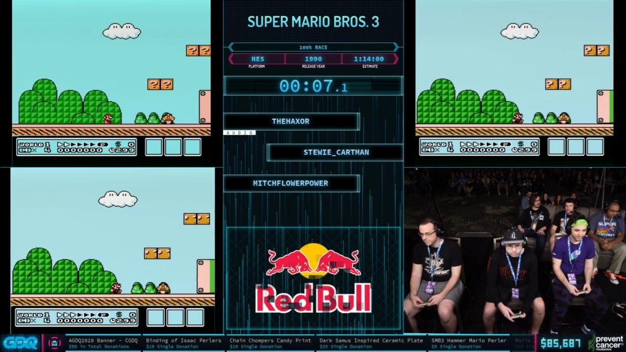 Super Mario Bros 3 at AGDQ 2020