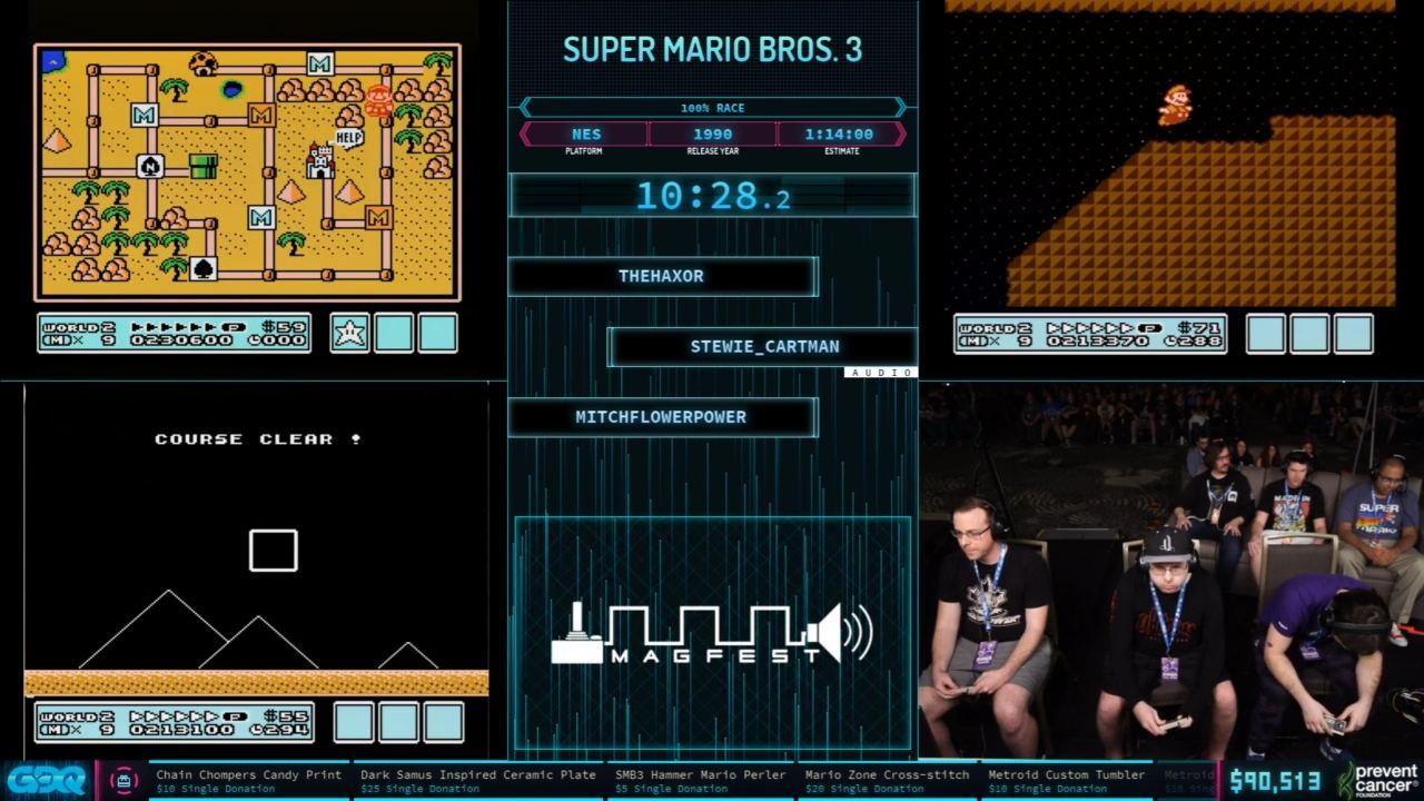 Super Mario BRos 3 Race at AGDQ 2020
