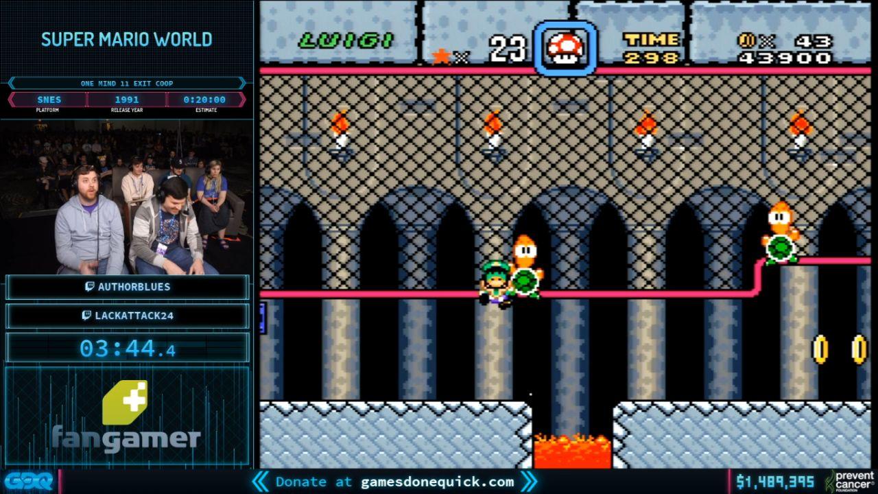 Super Mario World at AGDQ 2020