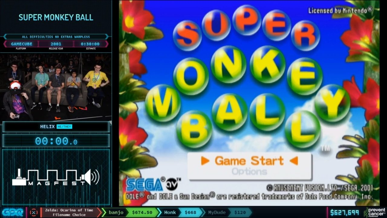 Super Monkey Ball at AGDQ 2020