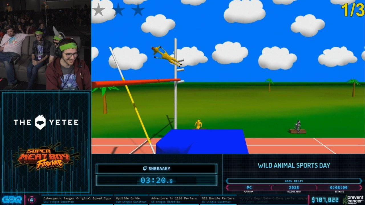 Wild Animal Sports Day at AGDQ 2020