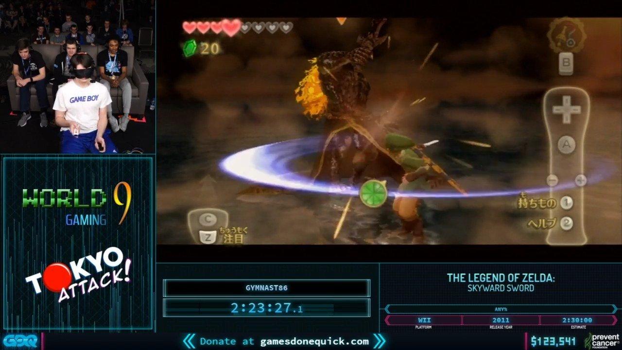 Zelda SKyward Sword Blindfolded at AGDQ 2020