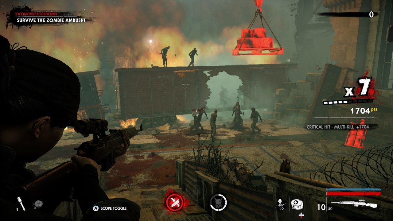 Shooting at Zombie Horde