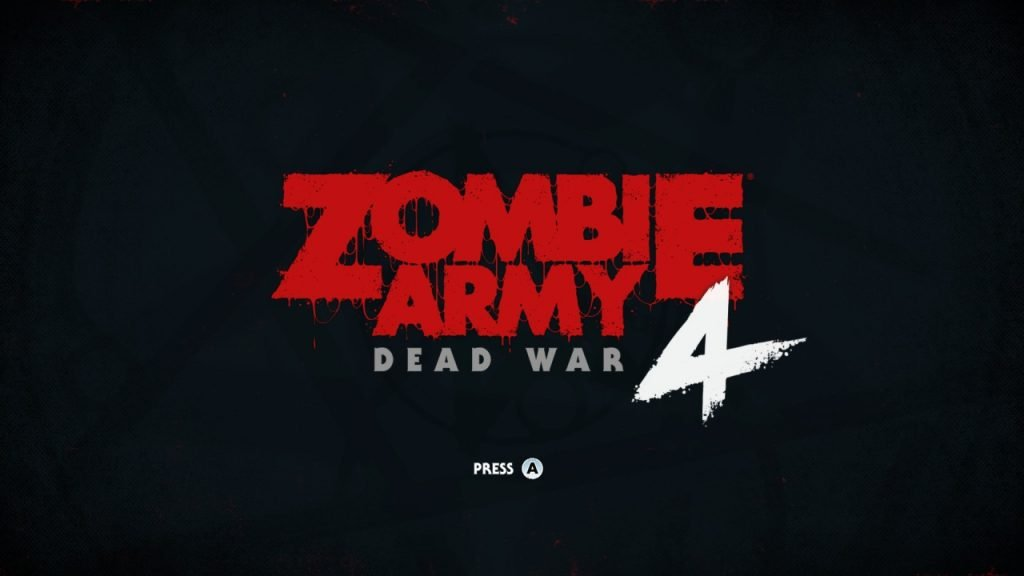 Zombie Army 4 Title Screen