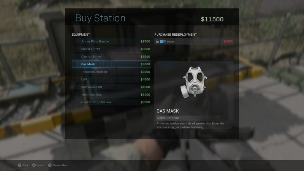 Warzone Buy Station Menu