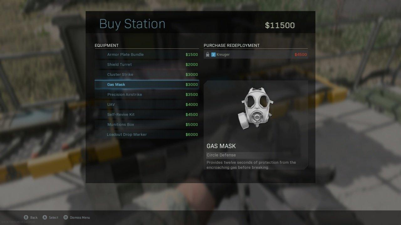 Warzone Buy Station Menu
