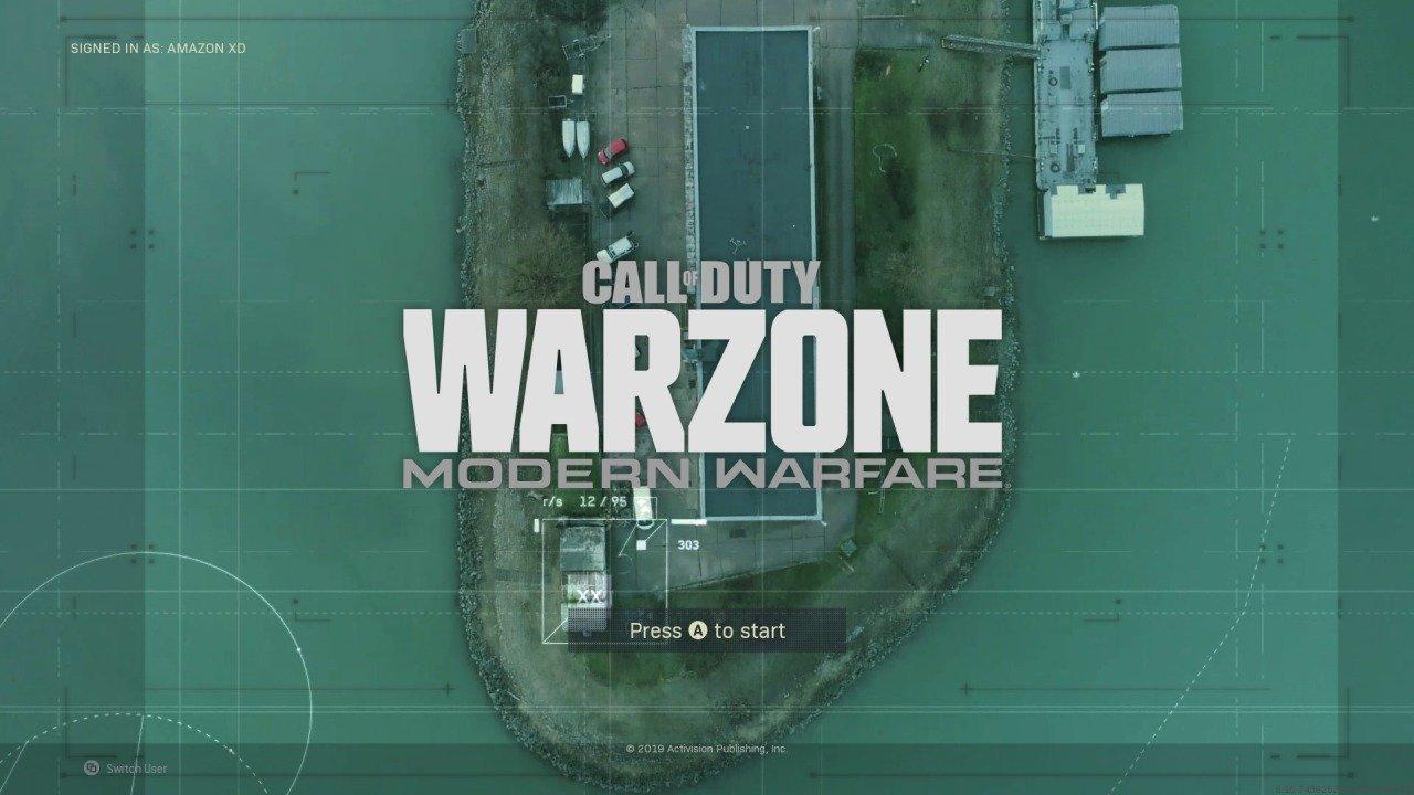 Warzone Title Screen