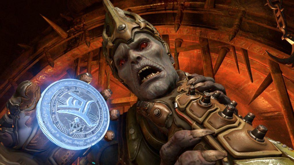 Doom Slayer Killing a Hell Priest
