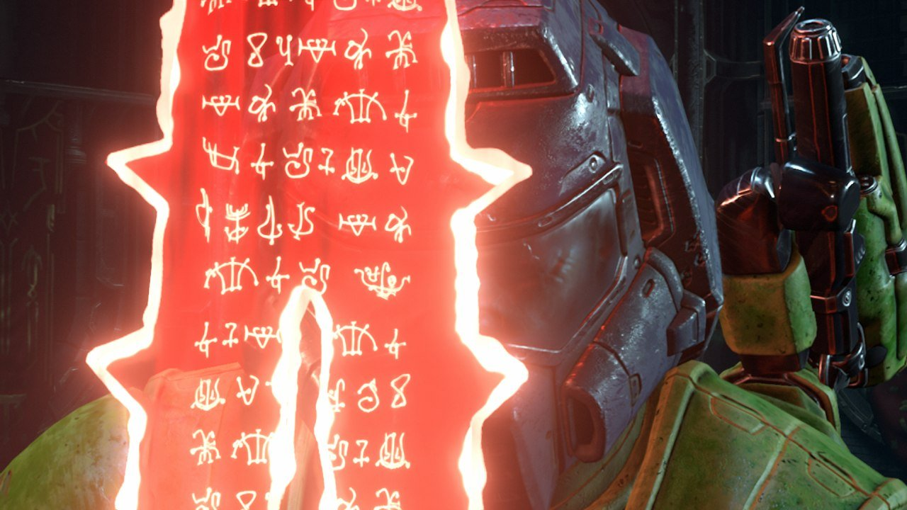 Doom Slayer Holding the Crucible Sword