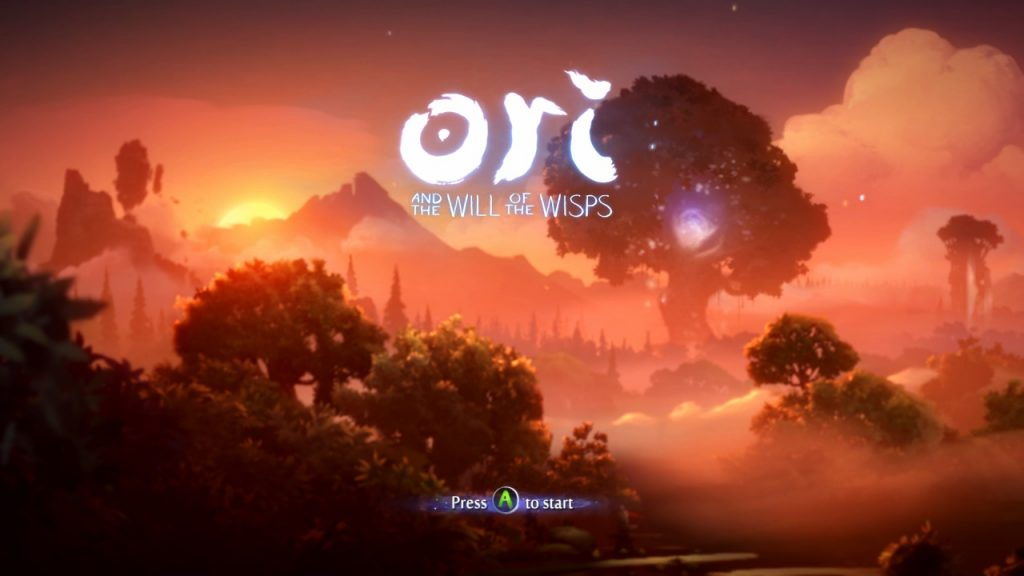 Ori and the Will of the Wisps Title Screen