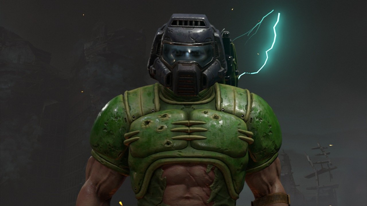 Doom Slayer in Retro Outfit