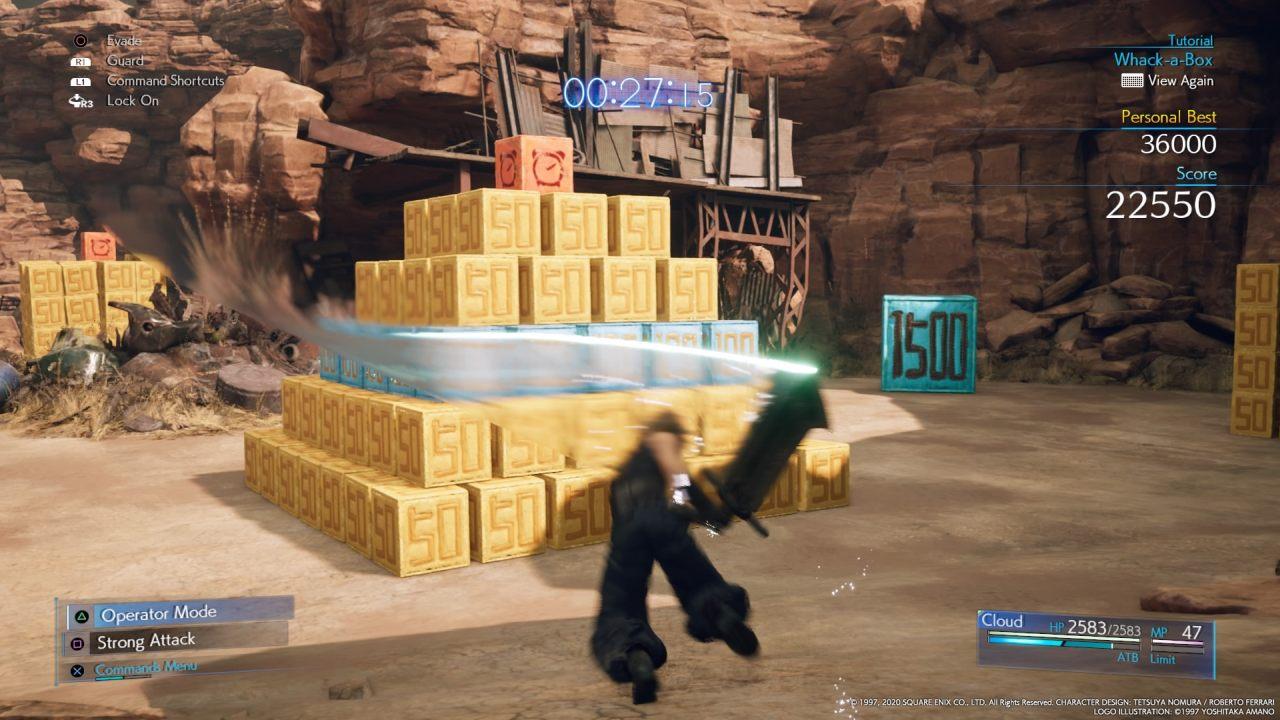 Box Breaking Minigame in Final Fantasy VII Remake