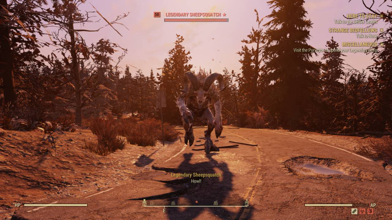 Fallout 76 Sheepsquatch
