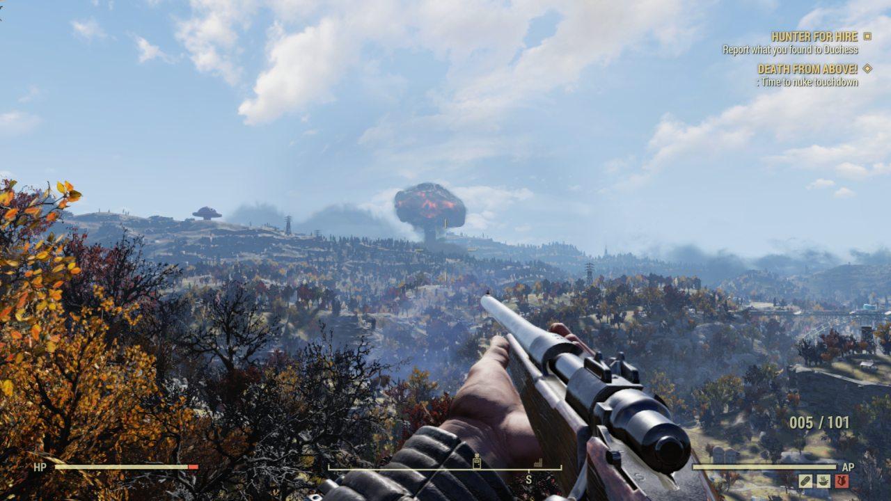 Mushroom Cloud Fallout 76 Wastelanders Update