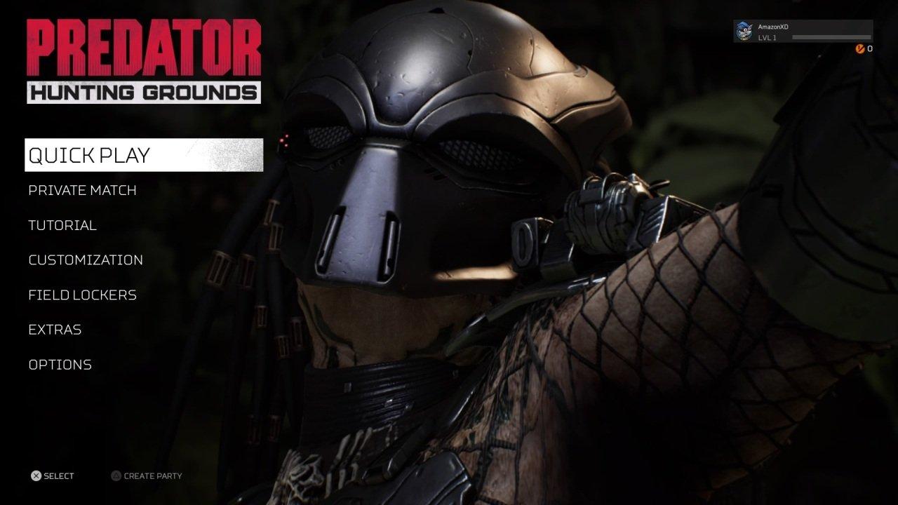 Predator Hunting Ground Main Menu