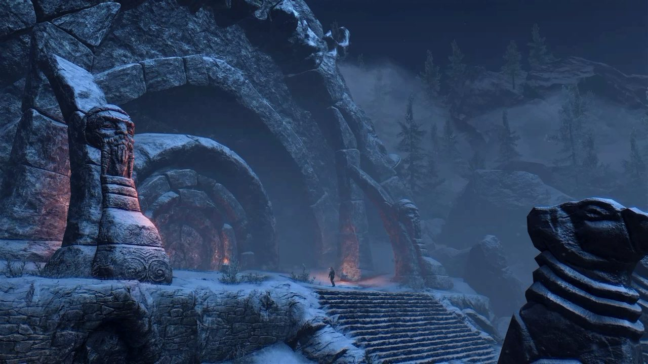 Ancient Tomb Covered in Snow
