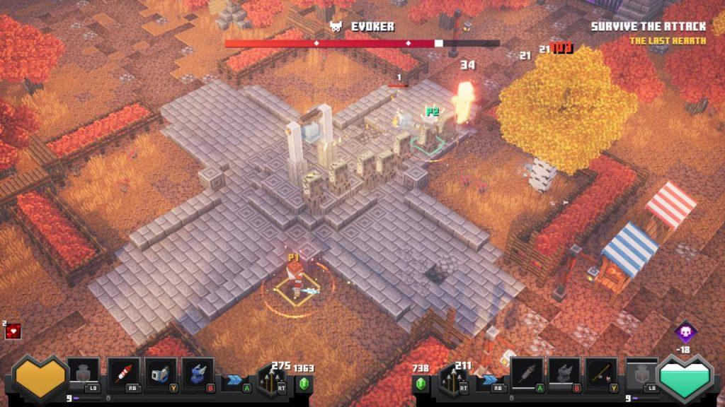 Evoker Boss Fight Minecraft Dungeons