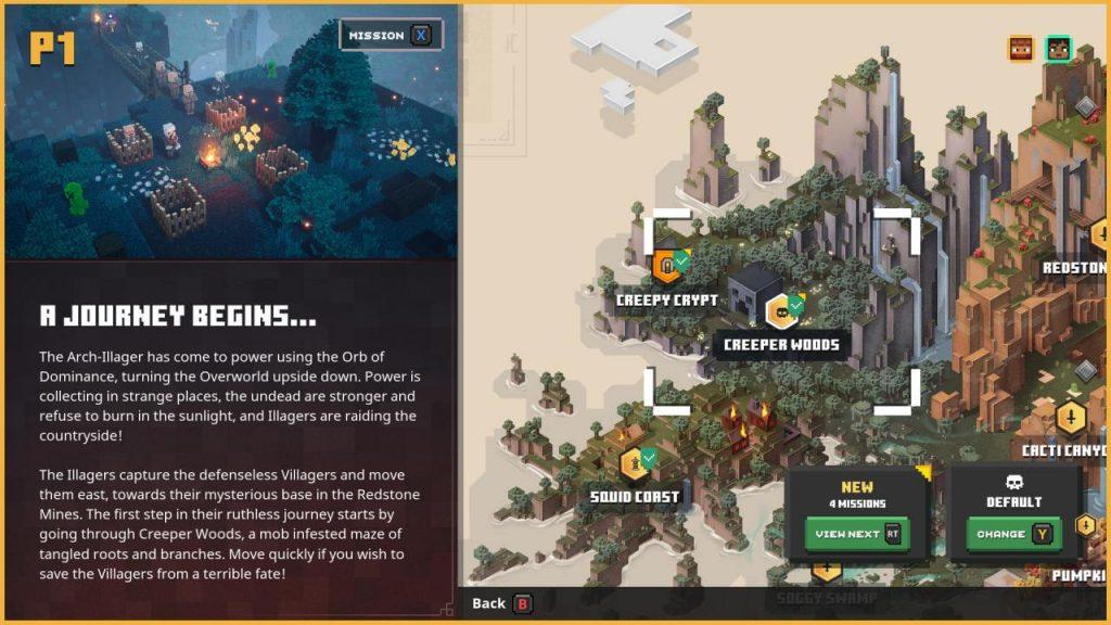 Mission Briefing Minecraft Dungeons