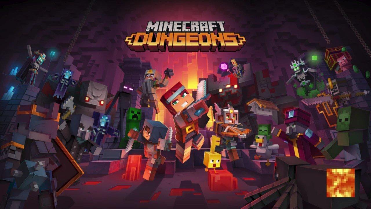 Minecraft Dungeons Title Screen