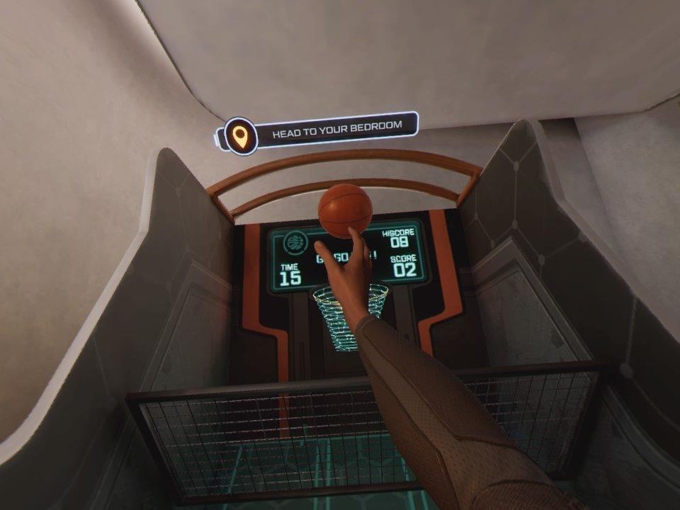 Tony Stark Playing Arcade Basketball