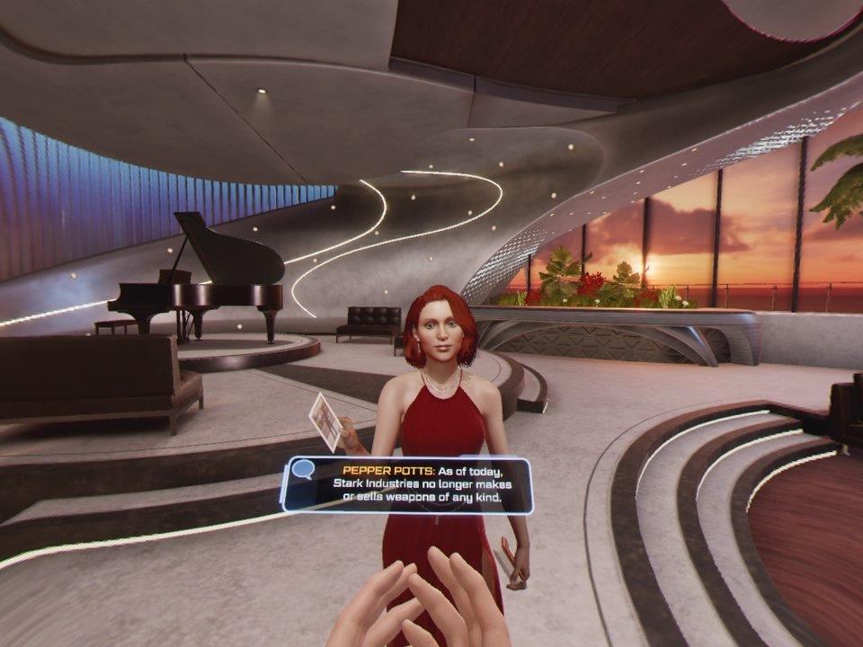 Pepper Pots in Iron Man VR