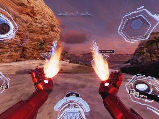 Iron Man Shooting Thrusters