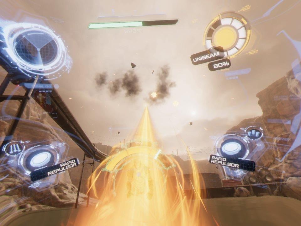 Unibeam Attack in Iron Man VR